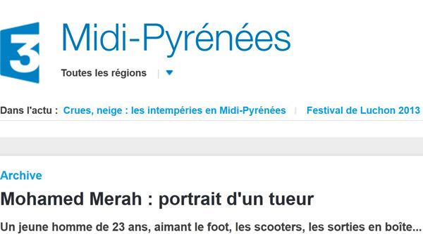 Un « Toulousain de 23 ans » (Europe 1) « aimant le foot, les scooters et les sorties en boîte » (France 3).