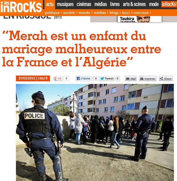 On n'a plus affaire à un salaud nazi mais à « un enfant du mariage malheureux entre la France et l'Algérie »