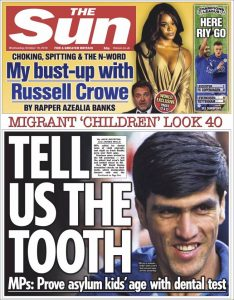 "The Sun : ""Tell us the tooth..."""