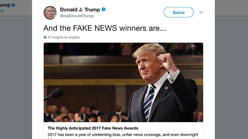 Fake news awards: Et Donald Trump remit les Golden Bobards!