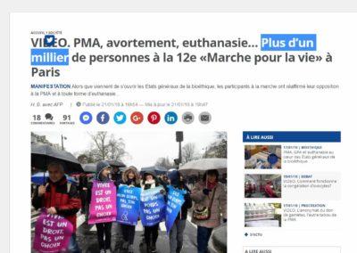 « Marche pour la Vie » : le Bobard Double Dépêches de l'AFP