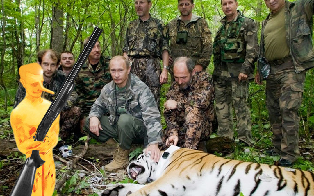 Bobard «Rambo Poutine»: Poutine chasse le tigre pendant ses vacances